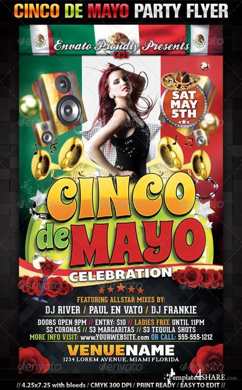 GraphicRiver Cinco De Mayo Party Flyer Template