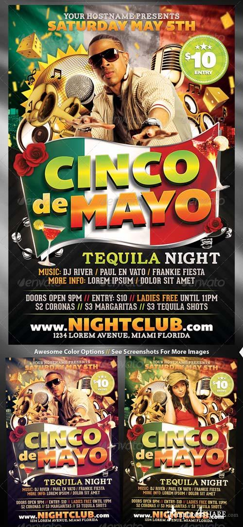 GraphicRiver Cinco De Mayo Flyer Template