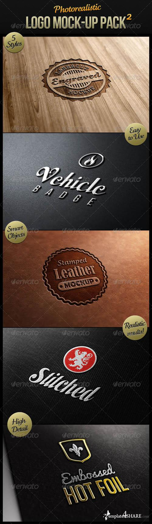 GraphicRiver Photorealistic Logo Mock-Up Pack 2