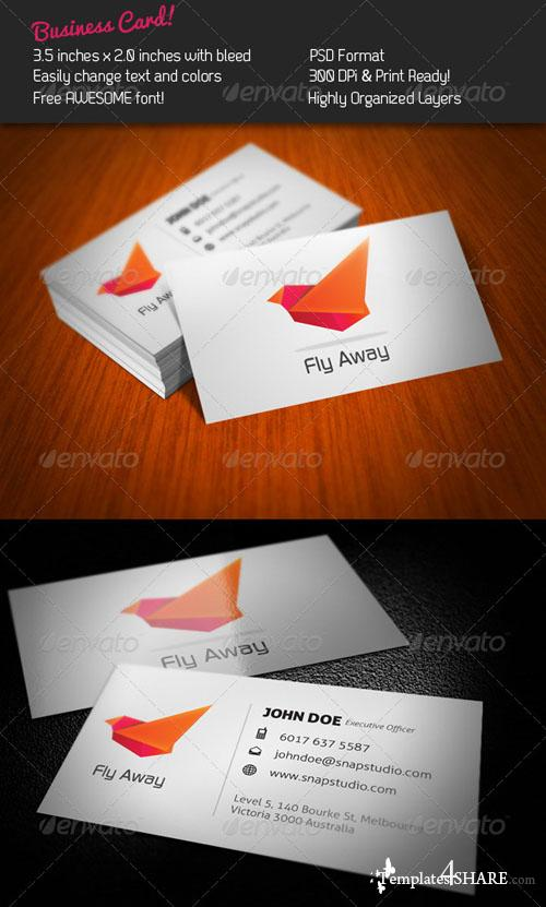 GraphicRiver Fly Business Card