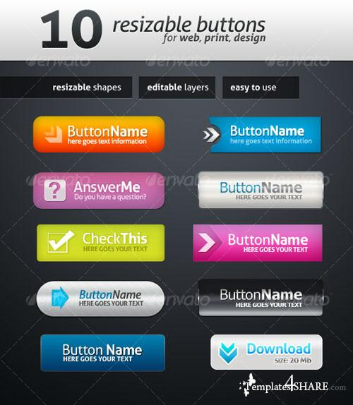 GraphicRiver 10 Web Buttons