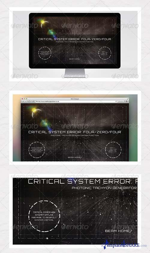 GraphicRiver Outer Space 404 Error Page