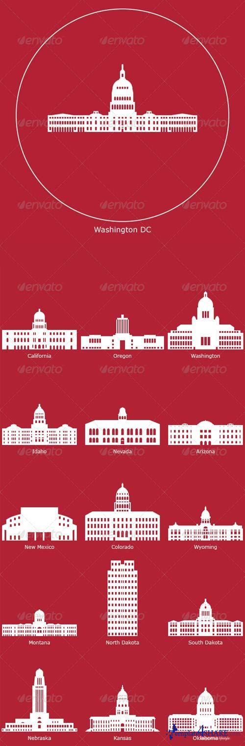 GraphicRiver US State Capitols