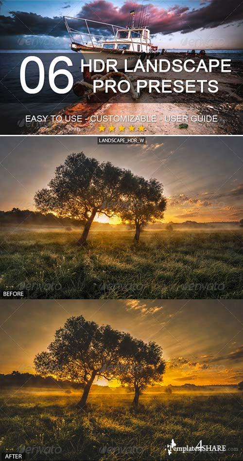 GraphicRiver 6 HDR Landscape Pro Presets