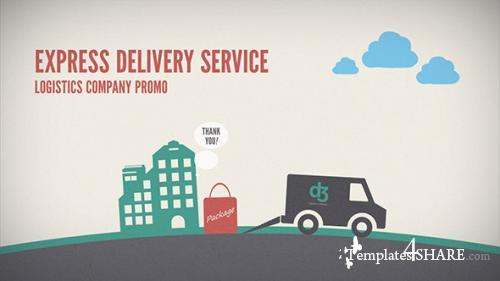 Logistics Company Delivery Promo - After Effects Project (Videohive)