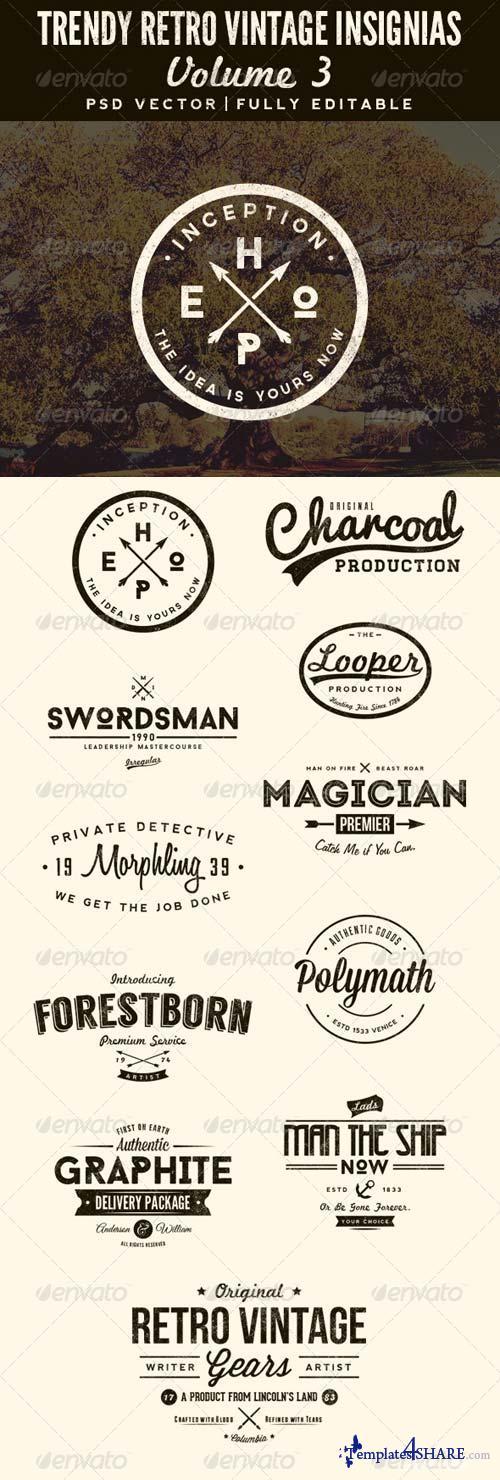 GraphicRiver Trendy Retro Vintage Insignias Volume 3