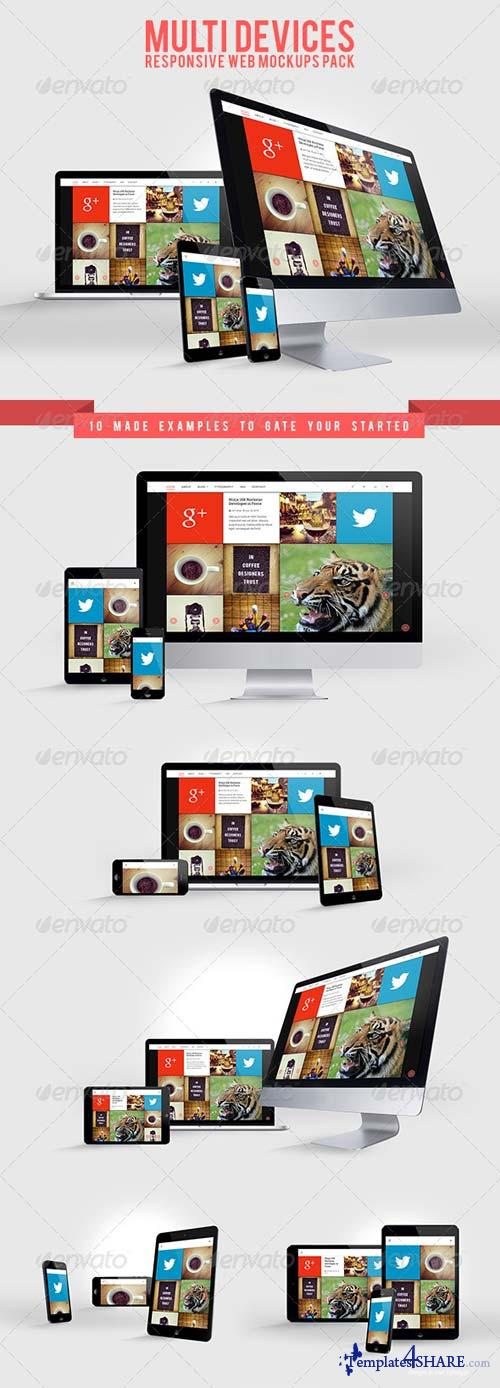 GraphicRiver Multi Devices Responsive Web Mockups Pack