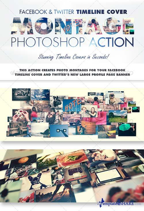 GraphicRiver Facebook & Twitter Timeline Cover Montage Action