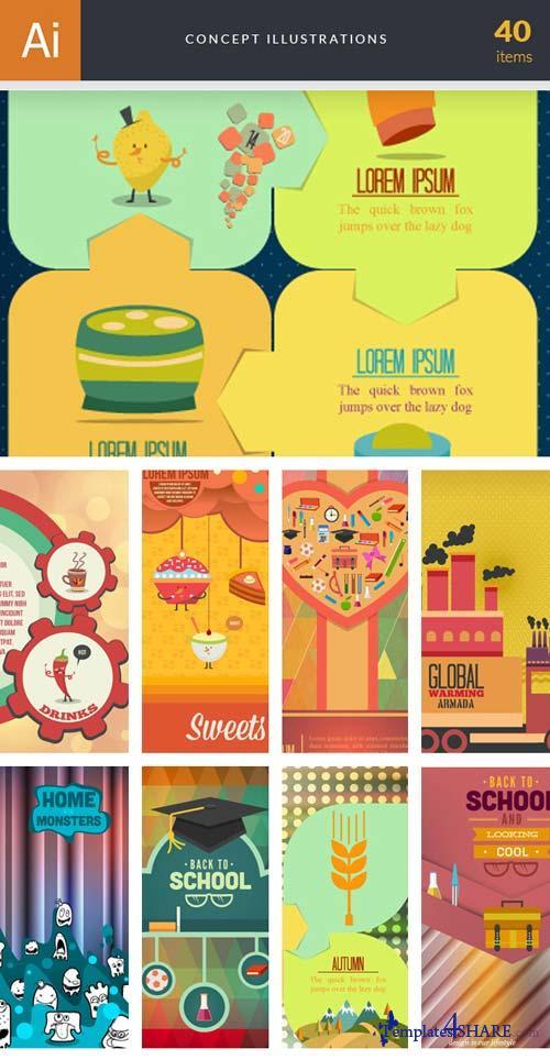 InkyDeals - 40 Concept Illustrations