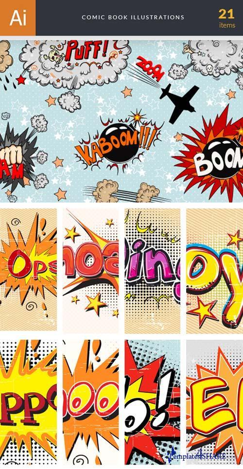 InkyDeals - 21 Comic Book Illustrations