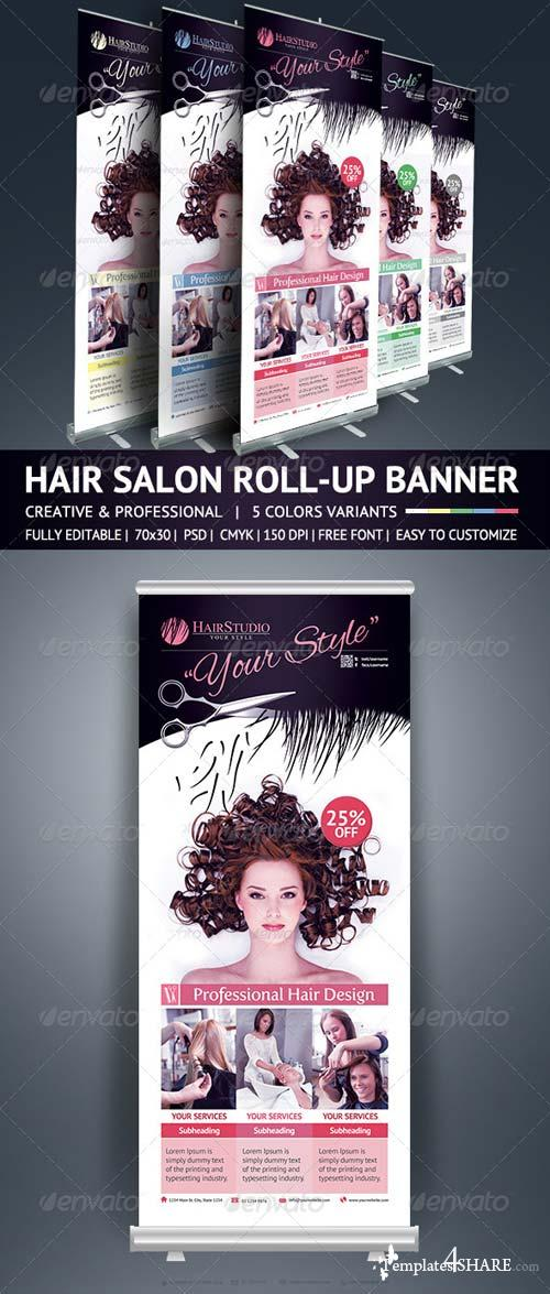 GraphicRiver Hair Salon Roll Up Banner