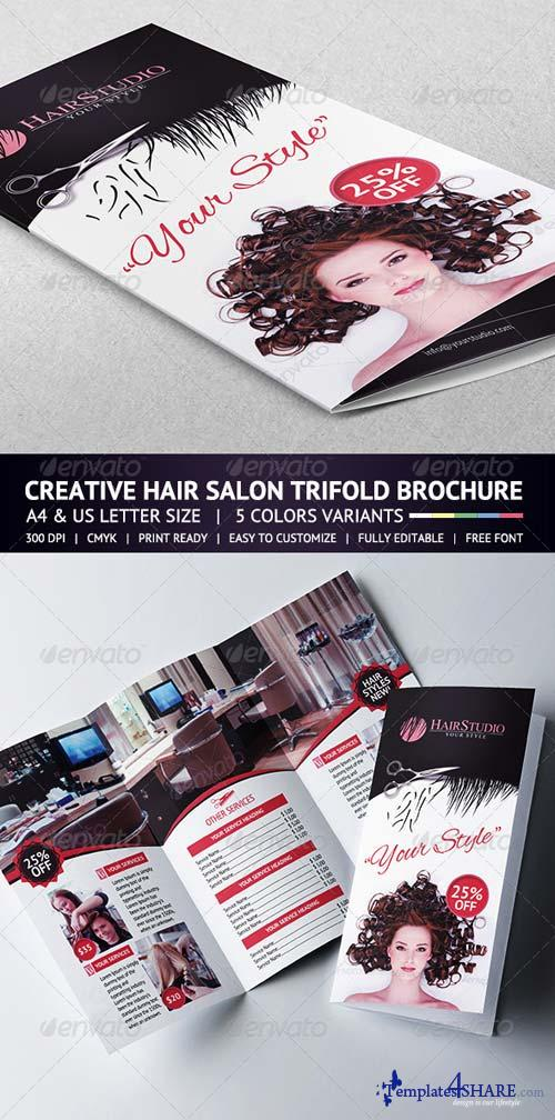 GraphicRiver Hair Salon Trifold Brochure