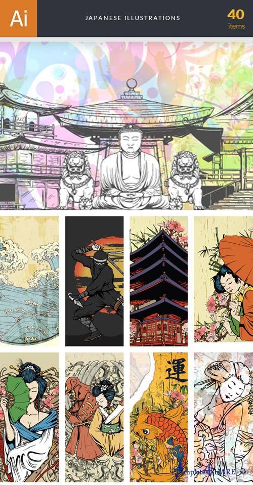InkyDeals - 40 Japanese Illustrations