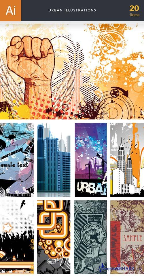 InkyDeals - 20 Urban Illustrations