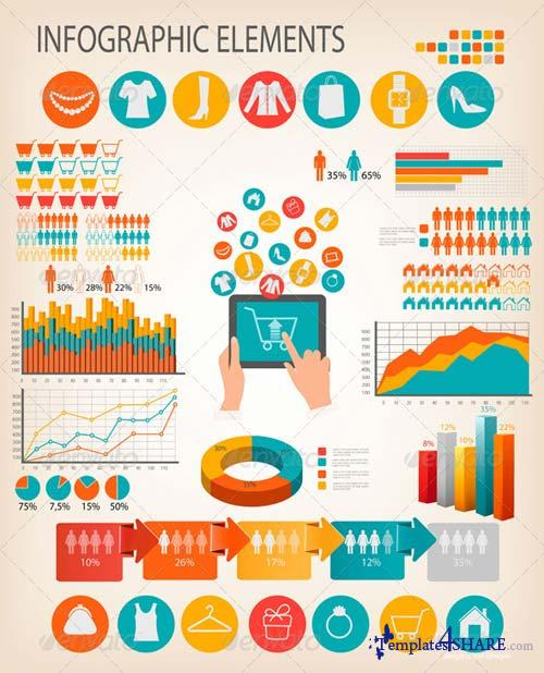 GraphicRiver Set of Shopping Infographics Elements