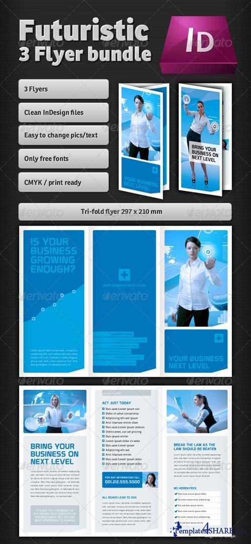 GraphicRiver Futuristic Flyer Bundle