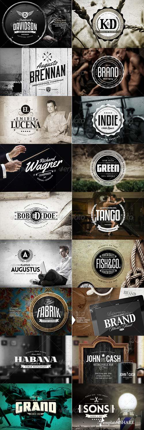GraphicRiver 36 Badges & Logos Bundle