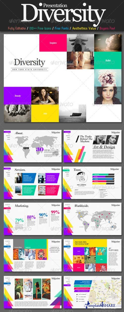 GraphicRiver Diversity Magazine PowerPoint Template