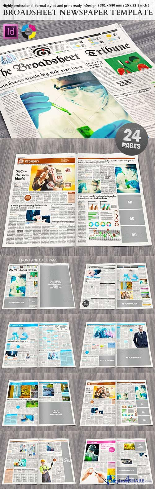 GraphicRiver Broadsheet Newspaper Template - 24 pages