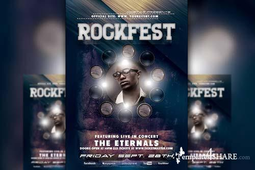 CreativeMarket Rockfest Flyer Template