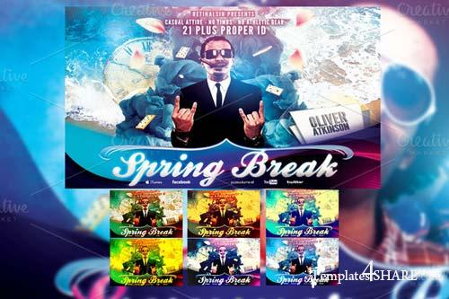 CreativeMarket Spring Break Flyer Template