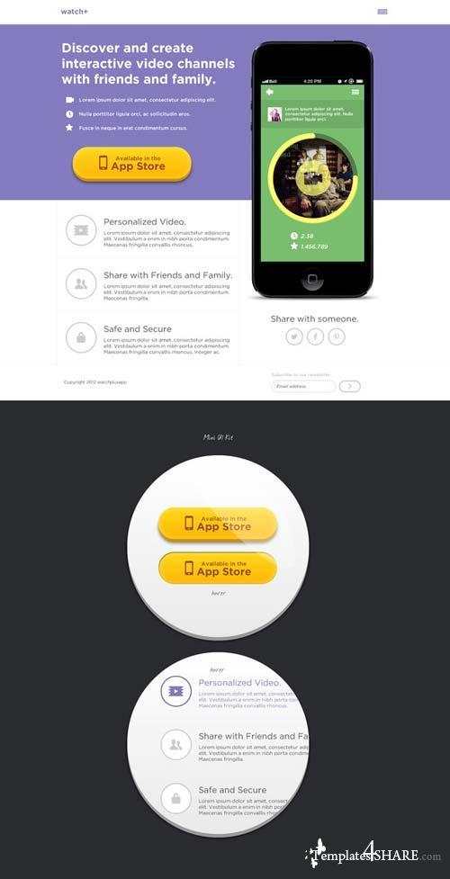 CreativeMarket Landing Page Design PSD files
