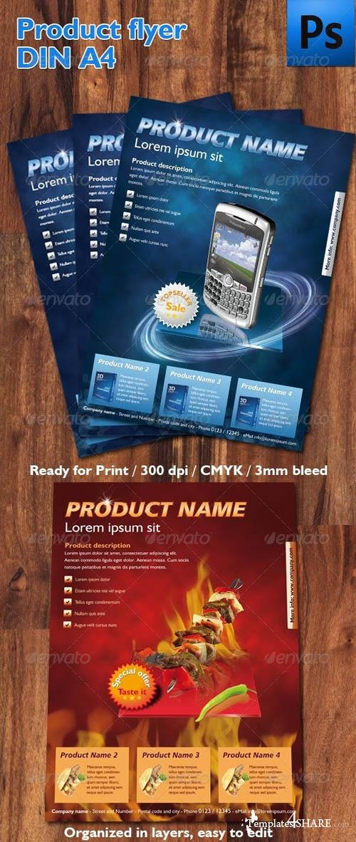 GraphicRiver Product Flyer DIN A4
