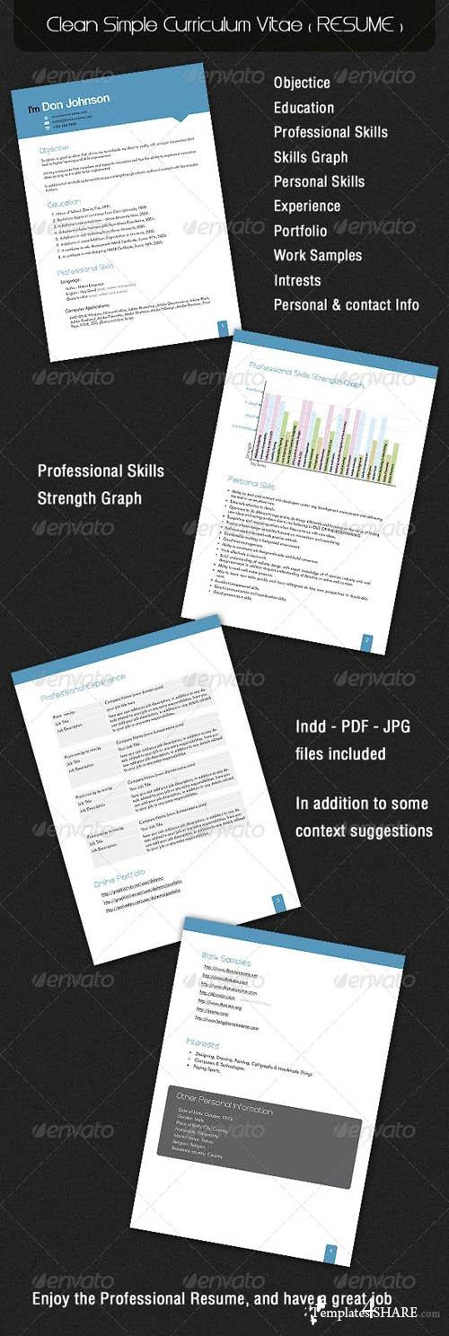 GraphicRiver Clean Simple Curriculum Vitae ( RESUME )
