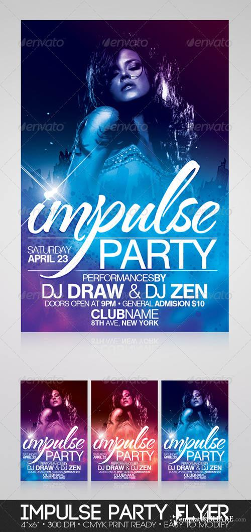 GraphicRiver Impulse Party Flyer