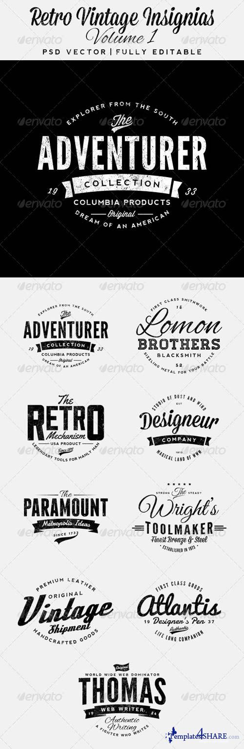 GraphicRiver Retro Vintage Insignias Volume 1
