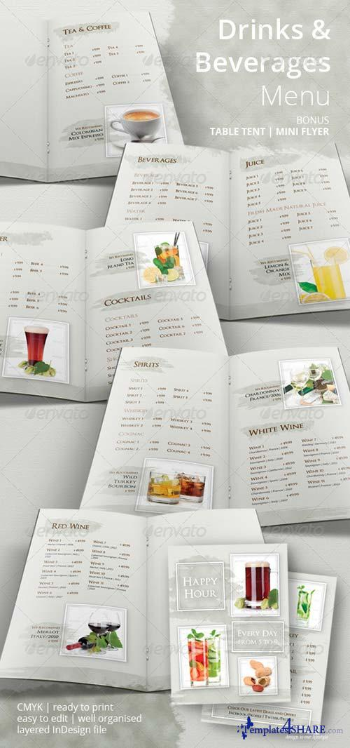GraphicRiver Drinks and Beverages Menu