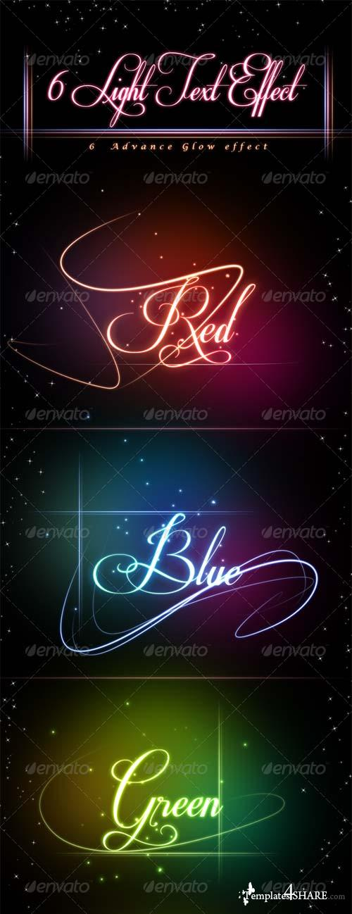 GraphicRiver Glowing Light Text Effect