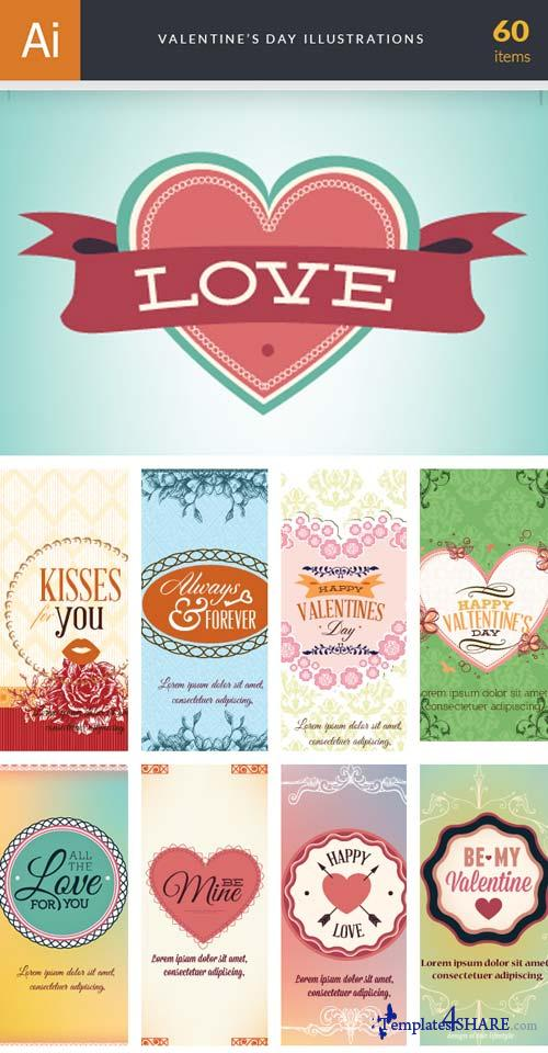 InkyDeals - 60 Valentine' Day Illustrations