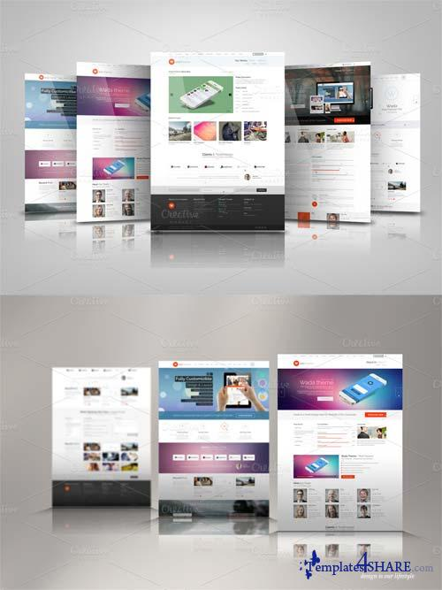 CreativeMarket Web Presentation Mock Ups