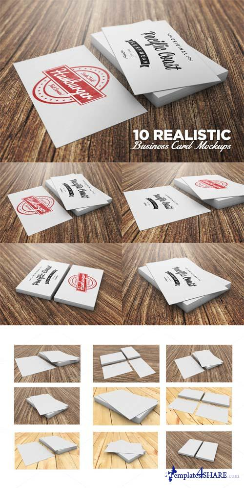 CreativeMarket 10 Realistic Business Card Mockups