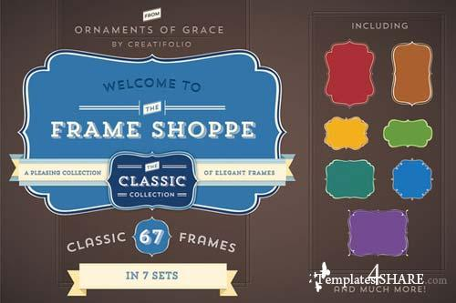 CreativeMarket 67 Classic Frames (PSD with Paths)