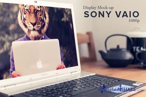 CreativeMarket Sony Vaio HD Display Mockup
