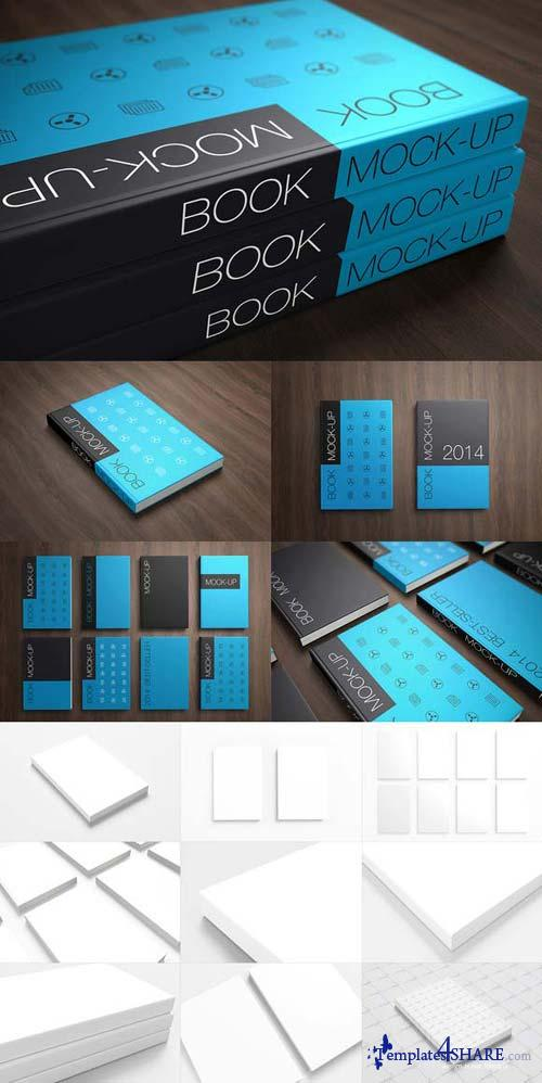 CreativeMarket Book Cover Mock-up's