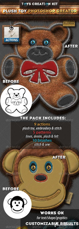 GraphicRiver Stitched Furry Plush Toys Photoshop Creator