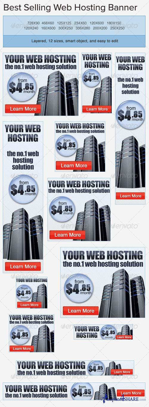 GraphicRiver Web Hosting PSD Banner Ad Template