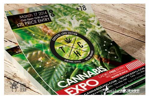CreativeMarket Cannabis Expo Flyer