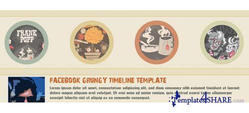 CreativeMarket RetyX - Facebook Timeline Template