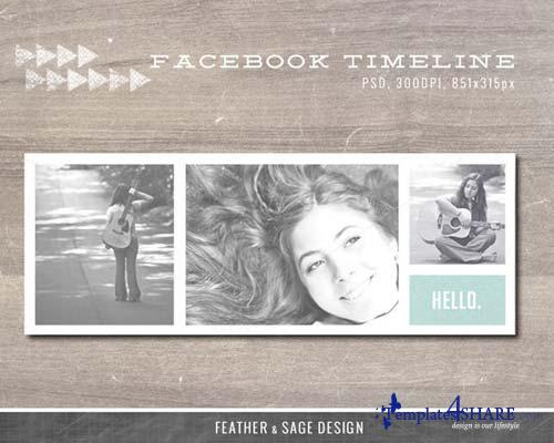 CreativeMarket Facebook Timeline Cover Template