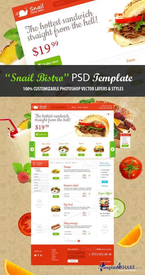 CreativeMarket Online bistro PSD Template