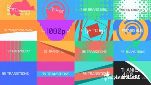 35 Cool Motion Graphics Transitions - After Effects Motion Graphics (Videohive)