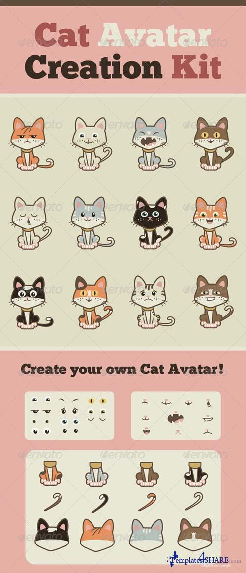 GraphicRiver Cat Avatar Creation Kit