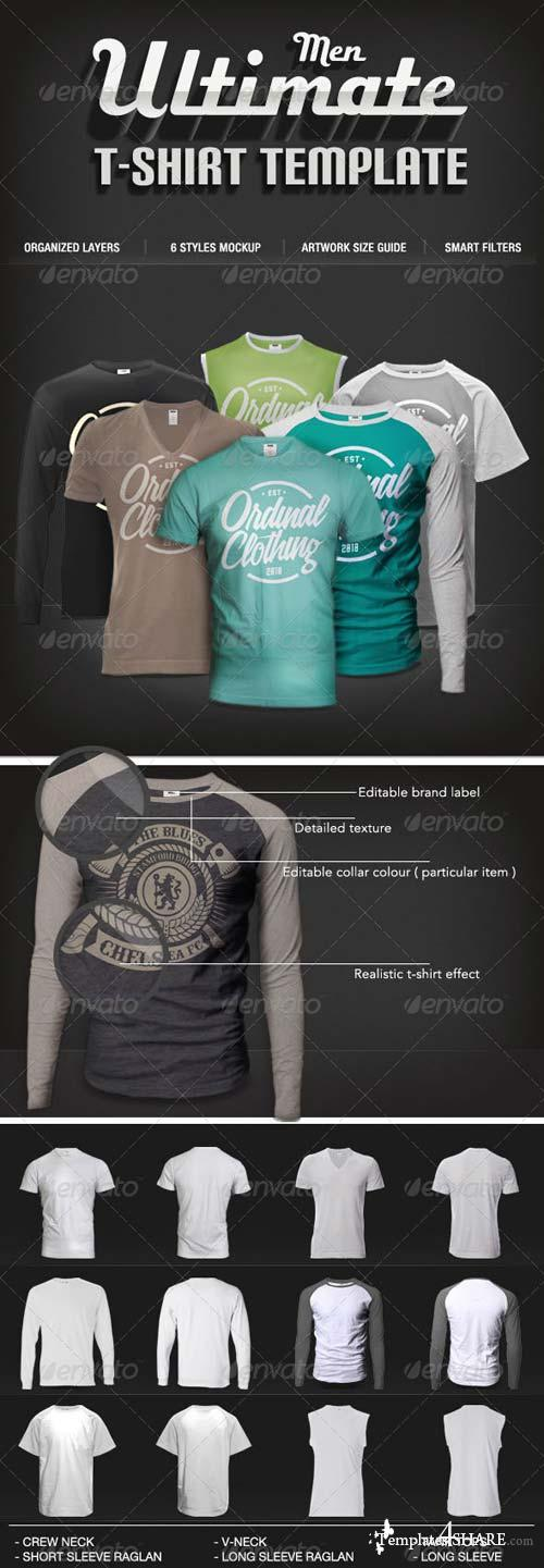 GraphicRiver Men T-shirt Mock-Ups Set