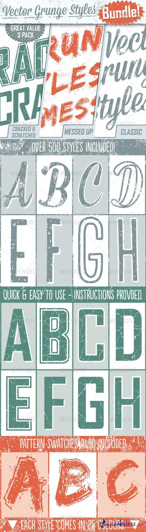 GraphicRiver Grunge Text Styles Bundle