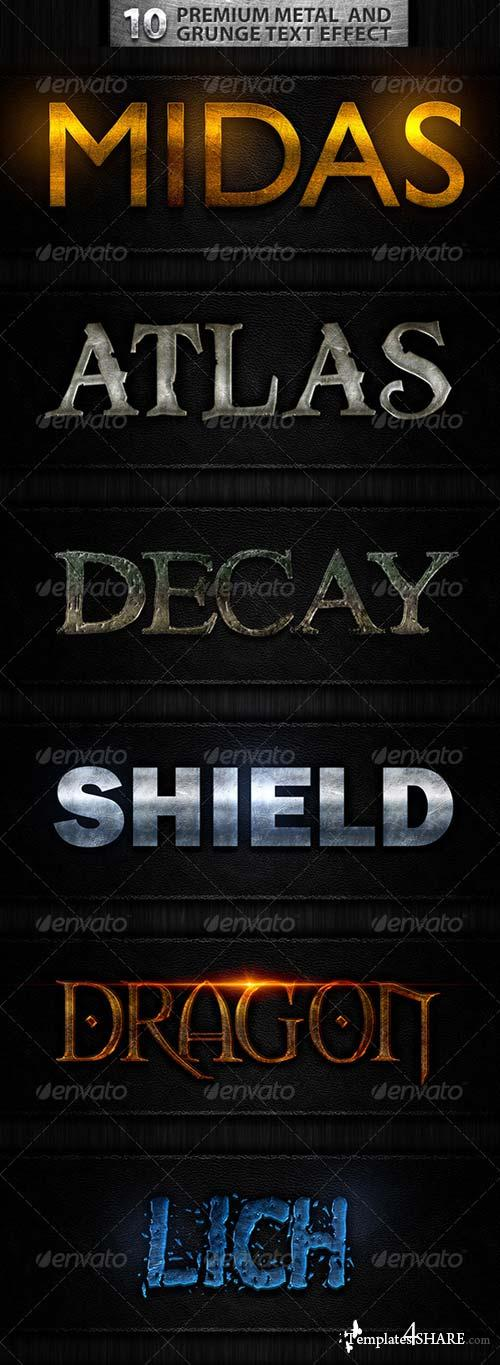 GraphicRiver 10 Premuim Metal and Grunge Text Effects