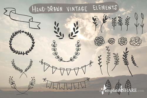 CreativeMarket Hand-Drawn Vintage Elements